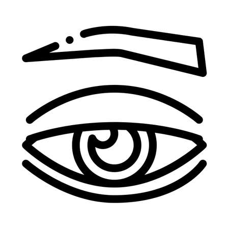 eyelid medical problem icon vector. eyelid medical problem sign. isolated contour symbol illustration