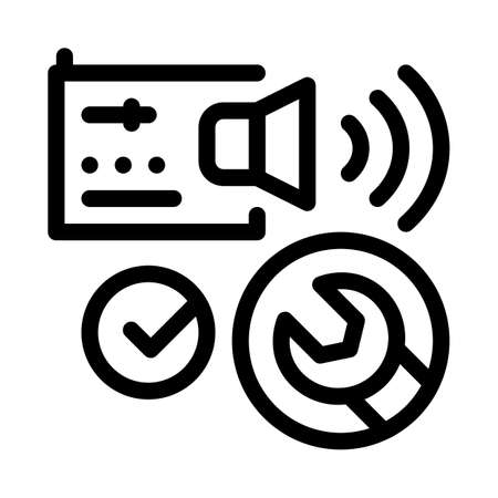 fixed radio sound icon vector. fixed radio sound sign. isolated contour symbol illustration