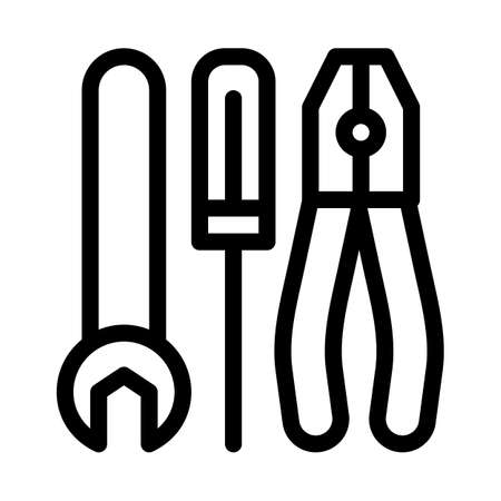 repair tool icon vector. repair tool sign. isolated contour symbol illustration