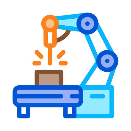 manufacturing engineering machine icon vector. manufacturing engineering machine sign. color symbol illustration