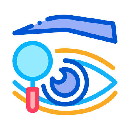 eyelid research icon vector. eyelid research sign. color symbol illustration