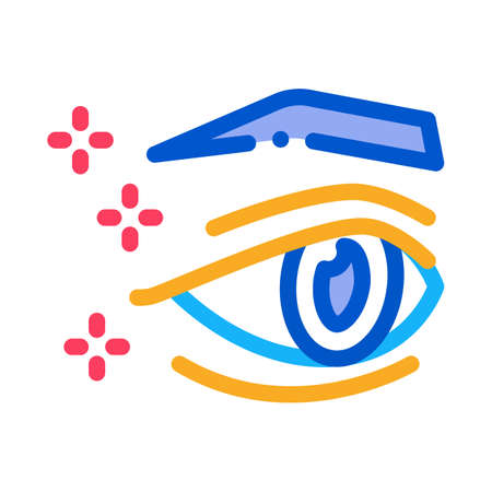 eyelid surgery result icon vector. eyelid surgery result sign. color symbol illustration
