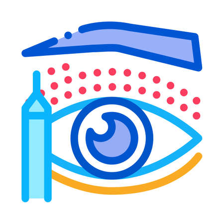 eyelid surgery design phase icon vector. eyelid surgery design phase sign. color symbol illustration