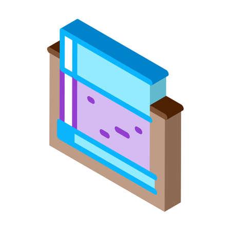 monolithic foundation icon vector. isometric monolithic foundation sign. color isolated symbol illustration Иллюстрация