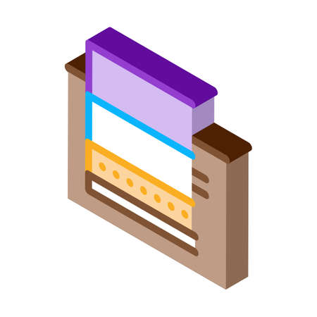 floating foundation icon vector. isometric floating foundation sign. color isolated symbol illustration