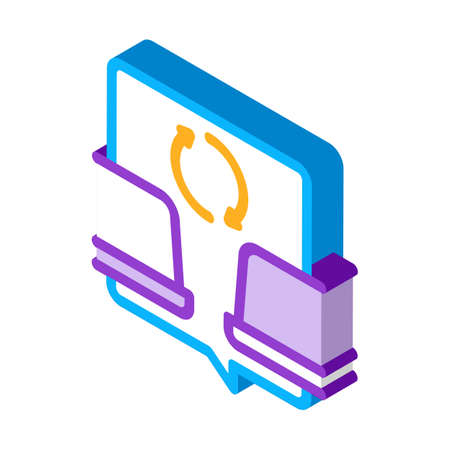 computers connection icon vector. isometric computers connection sign. color isolated symbol illustration