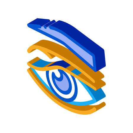 eyelid problem icon vector. isometric eyelid problem sign. color isolated symbol illustration Иллюстрация