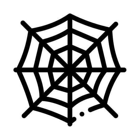 halloween spider web icon vector. halloween spider web sign. isolated contour symbol illustration