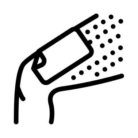 wax stripe leg depilation icon vector. wax stripe leg depilation sign. isolated contour symbol illustration