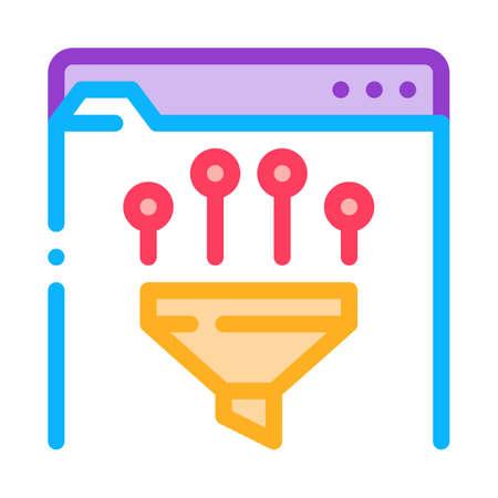 filtering data icon vector. filtering data sign. color symbol illustration