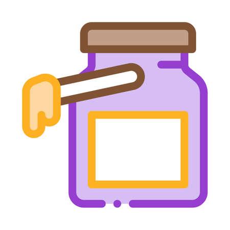 wax bottle icon vector. wax bottle sign. color symbol illustration