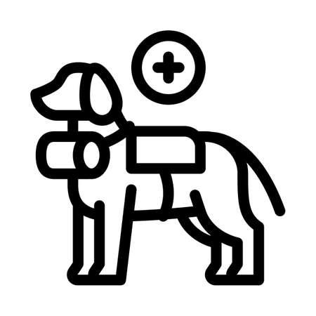 rescue dog icon vector. rescue dog sign. isolated contour symbol illustration