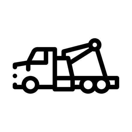 rescue truck icon vector. rescue truck sign. isolated contour symbol illustration