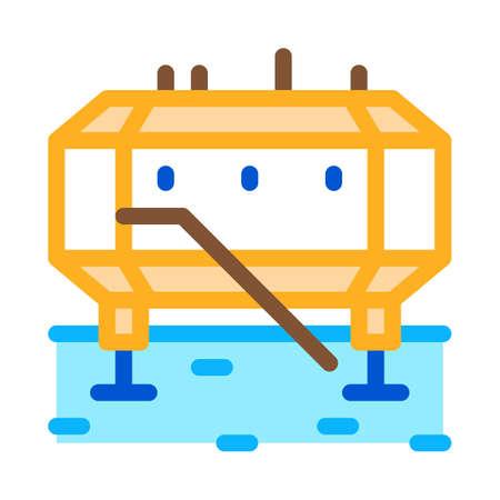 polar station icon vector. polar station sign. isolated contour symbol illustration Vektorgrafik