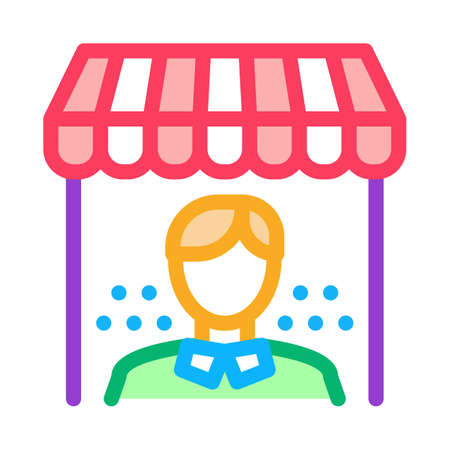 shop manager icon vector. shop manager sign. isolated contour symbol illustration 向量圖像