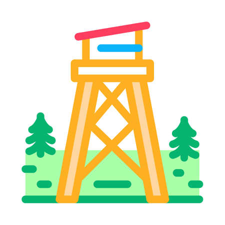 rescue forest tower icon vector. rescue forest tower sign. isolated contour symbol illustration