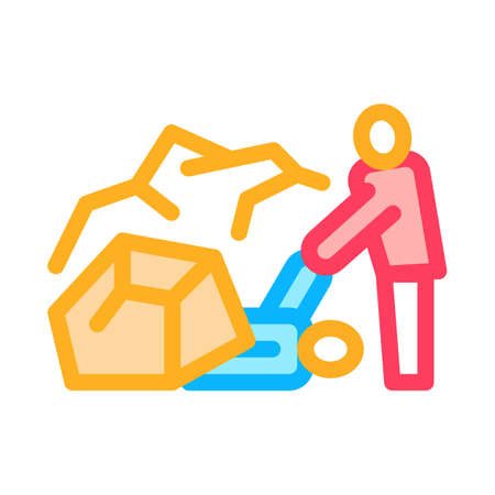 saving human from rubble icon vector. saving human from rubble sign. isolated contour symbol illustration