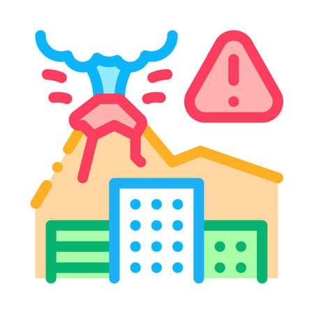 volcanic eruption icon vector. volcanic eruption sign. isolated contour symbol illustration