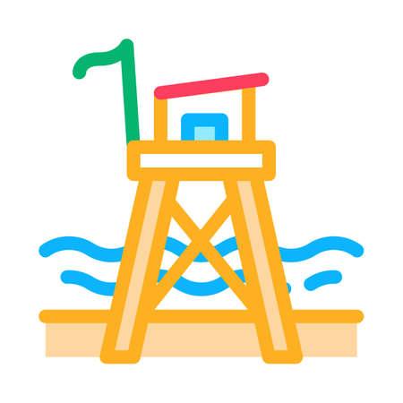 rescue beach tower icon vector. rescue beach tower sign. isolated contour symbol illustration Illusztráció