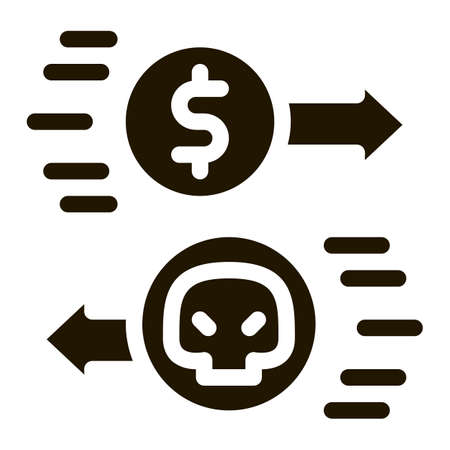 Payment of Hacker Services glyph icon vector. Payment of Hacker Services Sign. isolated symbol illustration 向量圖像