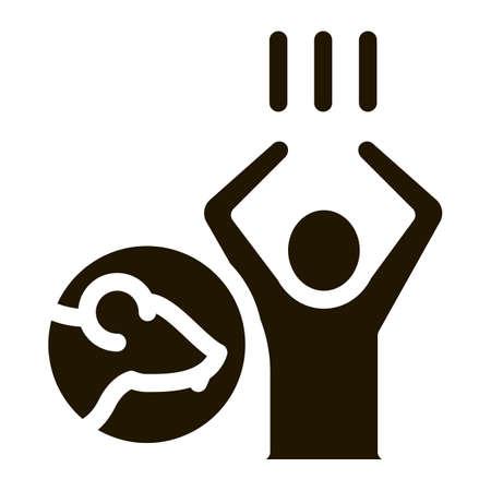 Rats Human Panic glyph icon vector. Rats Human Panic Sign. isolated symbol illustration