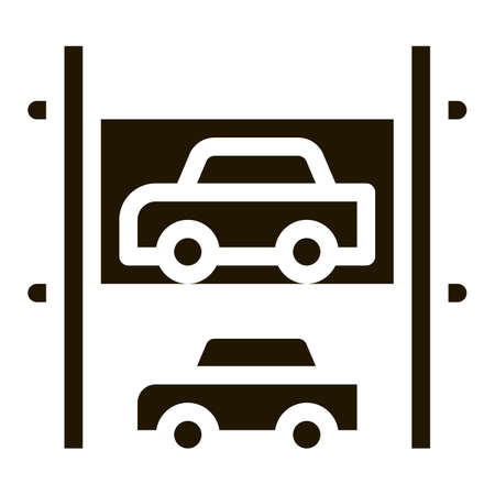 Multi-Storey Parking glyph icon vector. Multi-Storey Parking Sign. isolated symbol illustration