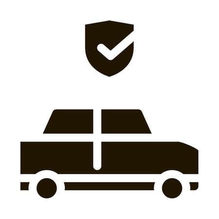 Parking Auto Confirmation glyph icon vector. Parking Auto Confirmation Sign. isolated symbol illustration