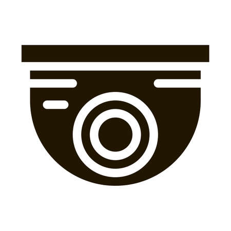 Security Surveillance Camera glyph icon vector. Security Surveillance Camera Sign. isolated symbol illustration