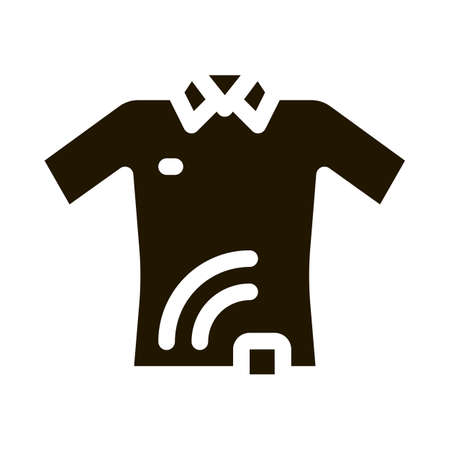 T-shirt with Signal Sensor glyph icon vector. T-shirt with Signal Sensor Sign. isolated symbol illustration Illusztráció