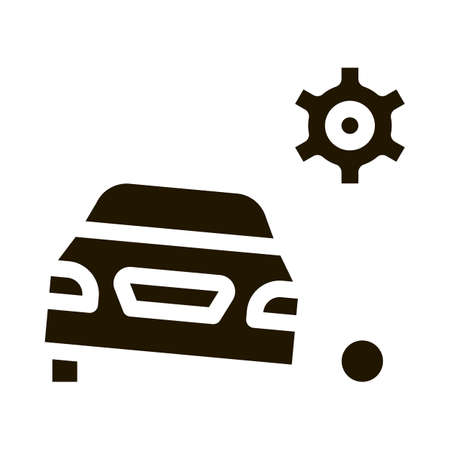Machine Wheel Blade glyph icon vector. Machine Wheel Blade Sign. isolated symbol illustration Ilustração