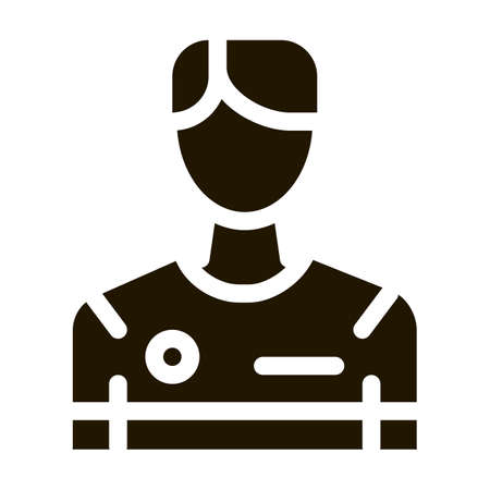 Soccer Game Player glyph icon vector. Soccer Game Player Sign. isolated symbol illustration