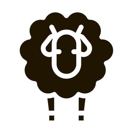Woolly Sheep Lamb Animal glyph icon vector. Woolly Sheep Lamb Animal Sign. isolated symbol illustration