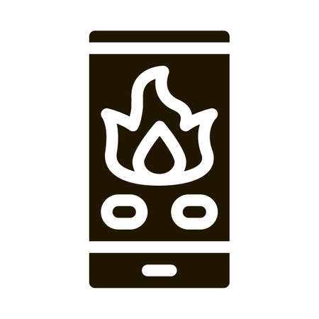 Phone Call Fire Dept glyph icon vector. Phone Call Fire Dept Sign. isolated symbol illustration