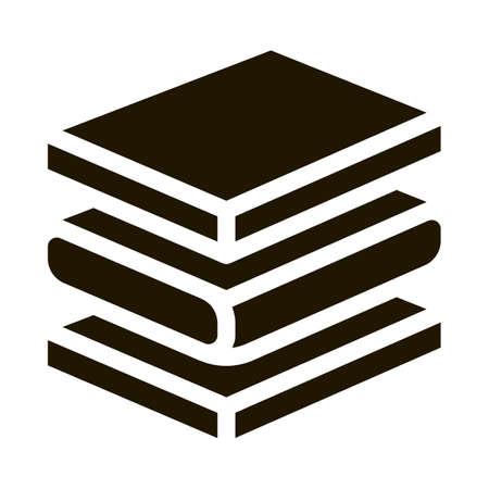 Mattress Foam Layers glyph icon vector. Mattress Foam Layers Sign. isolated symbol illustration