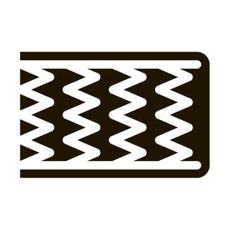 Mattress Metal Springs glyph icon vector. Mattress Metal Springs Sign. isolated symbol illustration 일러스트