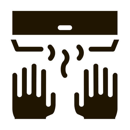 Hand Drying Air Wipe glyph icon vector. Hand Drying Air Wipe Sign. isolated symbol illustration