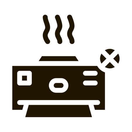 Broken Printer glyph icon vector. Broken Printer Sign. isolated symbol illustration