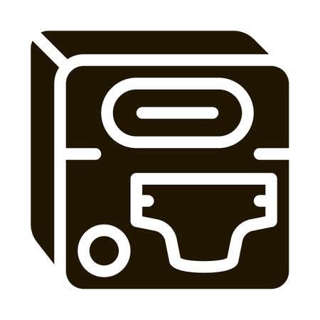 Diaper Device glyph icon vector. Diaper Device Sign. isolated symbol illustration Illustration