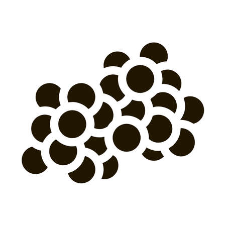 Fresh Caviar Eggs glyph icon vector. Fresh Caviar Eggs Sign. isolated symbol illustration