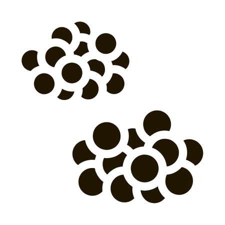 Caviar Heaps glyph icon vector. Caviar Heaps Sign. isolated symbol illustration
