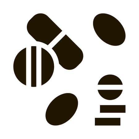 Medical Drug Pill glyph icon vector. Medical Drug Pill Sign. isolated symbol illustration