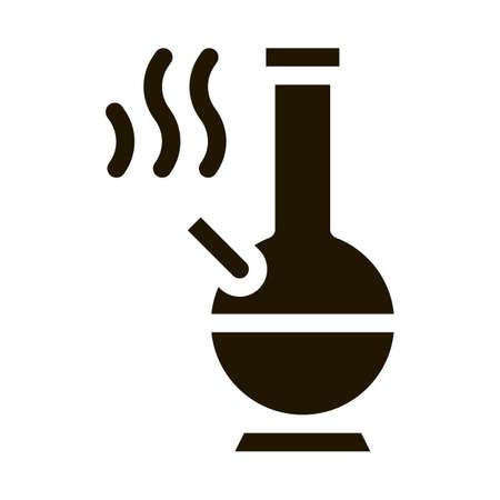 Smoking Bong glyph icon vector. Smoking Bong Sign. isolated symbol illustration