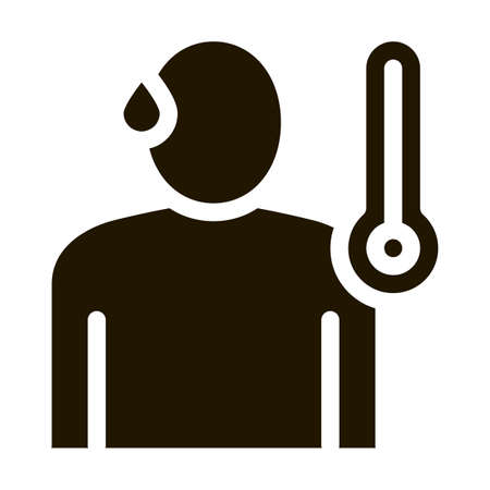 Body Temperature glyph icon vector. Body Temperature Sign. isolated symbol illustration