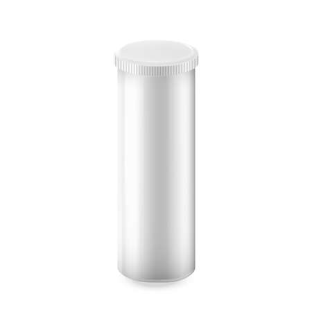 Pills Container Pharmaceutical Product Vector. Medical Pills Blank Package With Closed Cap, Plastic Supplement Jar. Pharmacy Healthcare Remedy Drug Pack Template Realistic 3d Illustration