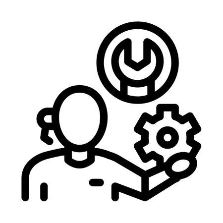 repair service black icon vector. repair service sign. isolated symbol illustration