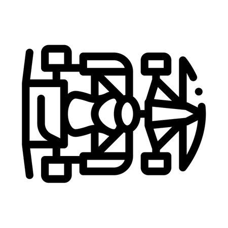 kart sportive auto transport black icon vector. kart sportive auto transport sign. isolated symbol illustration