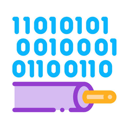 data transfer cable color icon vector. data transfer cable sign. isolated symbol illustration 矢量图像