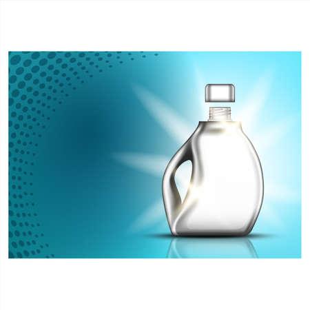 Super Wash Laundry Liquid Advertise Banner Vector Vecteurs