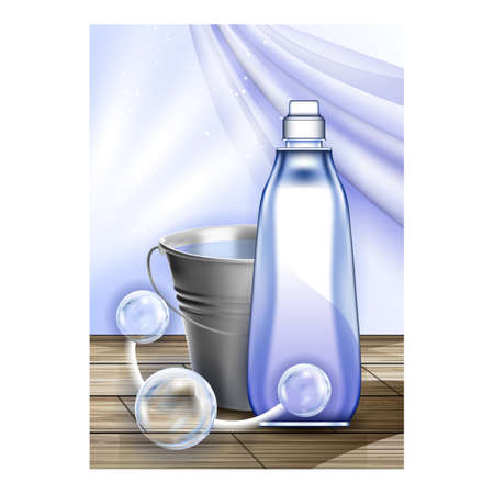 Floor Cleaner Eco Product Promo Banner Vector Illustration