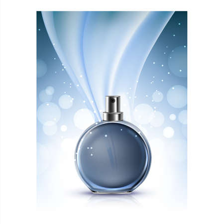 Perfume For Woman Luxury Odor Promo Banner Vector